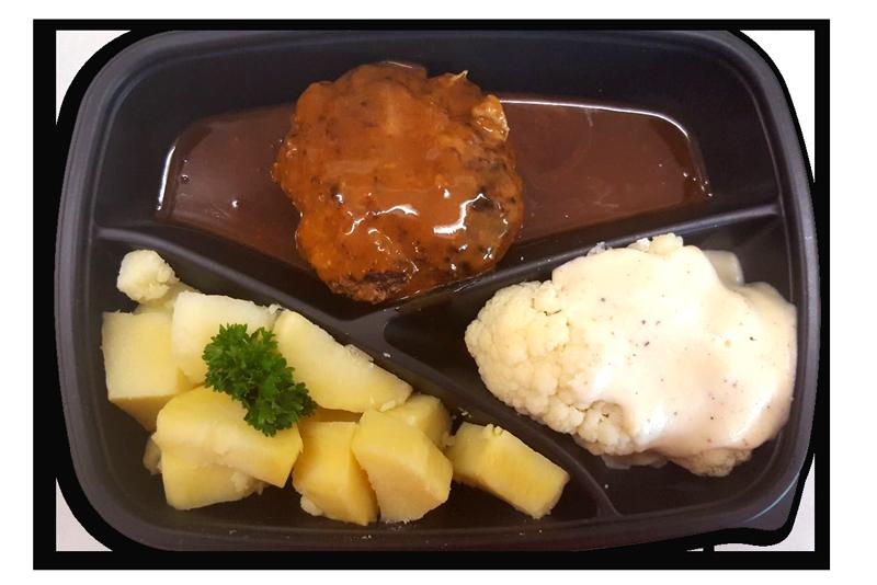 gehaktbal-met-jus-gekookte-aardappelen-en-bloemkool